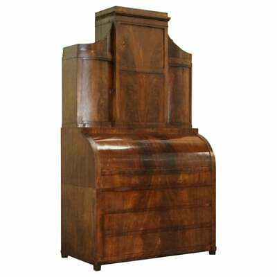 $6601.55 • Buy Very Rare Italian Mahogany Cyclinder Bureau Bookcase Desk With Must See Pictures