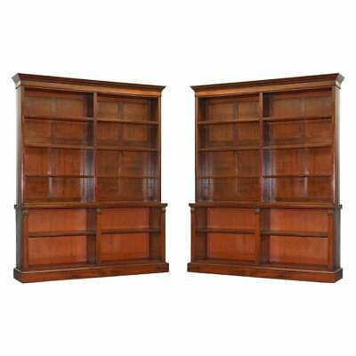 $20803.50 • Buy Exquisite Pair Of Large Mid Victorian 1860 Antique Mahogany Library Bookcases