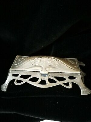 £45 • Buy Lovely Art Nouveau, Arts And Crafts Metal Stamp Box