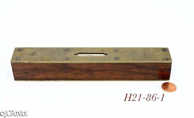 $30 • Buy 8 Inch Old Antique ROSEWOOD BRASS CARPENTER MACHINIST TOOL LEVEL
