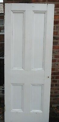 £20 • Buy OLD WOOD INTERIOR 4 PANEL DOOR. 1930's. Manchester Collection.