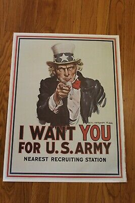 $25 • Buy Vintage1964 Uncle Sam Poster 16 X 21 1/4  To Frame Military