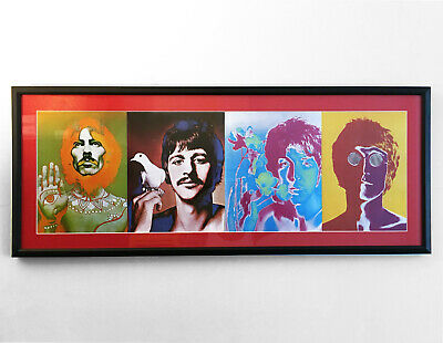 $260 • Buy THE BEATLES Print Of Artwork By Richard Avedon Professionally Matted & Framed