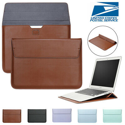 $14.12 • Buy Leather Laptop Sleeve Bag Pouch Case Cover For MacBook Air 11 13 Pro 15 Retina