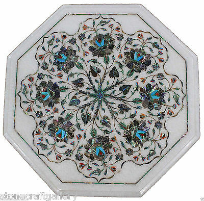 £260.75 • Buy 18  Marble Corner White Table Top Inlay Art For Home Decor & Gift