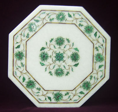 £204.69 • Buy 15  Marble Side End White Table Top Inlay Art For Home Decor & Garden