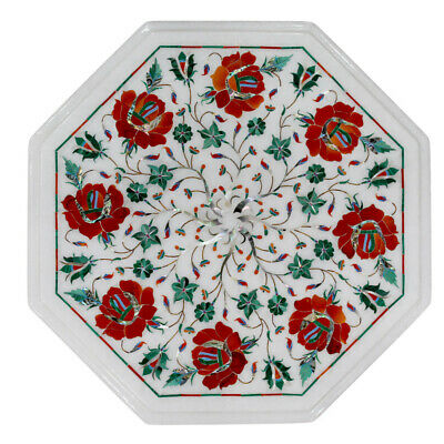 £208.60 • Buy 15  Marble Inlay Side End Table Top Handmade Pietra Dura Art Home Office Decor