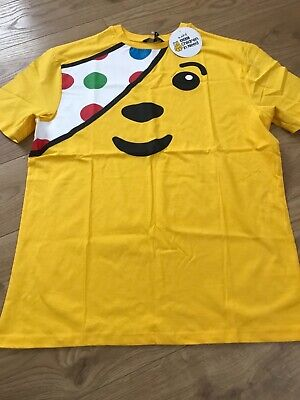 £6.95 • Buy BNWT Men's Children In Need Pudsey T-shirt In Sizes Small, Medium, Large
