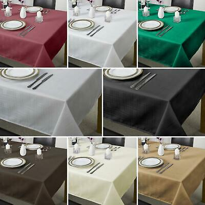 £6.95 • Buy Jacquard Table Cloths Chequers Check Easycare Dining Kitchen Table Linen Napkins