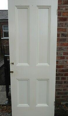 £22 • Buy OLD WOOD INTERIOR 4 PANEL DOOR. 1930's. Manchester Collection.