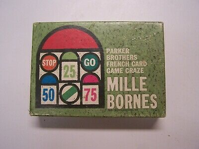 $12.50 • Buy Mille Bornes - Parker Brothers - Vintage French Card Game - 1962With Green Tray