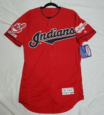 $269 • Buy Authentic Majestic SIZE 48 XL CLEVELAND INDIANS, RED FLEX BASE Jersey