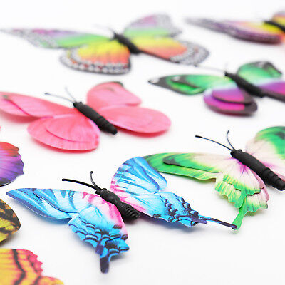 £1.79 • Buy 12pcs MAG 3D Butterfly Decal Wall Stickers Home DIY Art Decor Children Room Uk