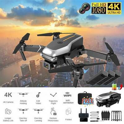 AU64.99 • Buy Drones With 4K HD Dual Camera Follow Me RC Brushless Wifi FPV Drone 2/3XBattery