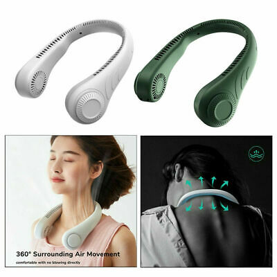 AU24.99 • Buy Portable USB Leafless Neck Fan Cooler Rechargeable Dual Effect Cooling Neckband