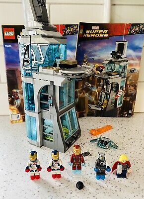 £70 • Buy Lego Marvel Attack On Avengers Tower 76038 With Ultron Iron Man And Legion Thor
