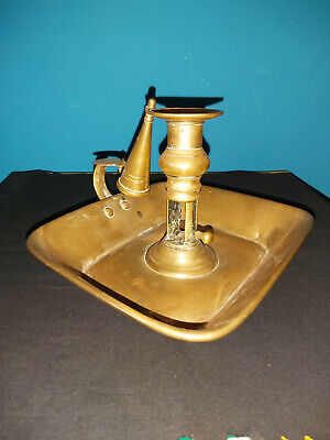 £14.99 • Buy Antique/vintage Brass Candle Holder With Snuffer