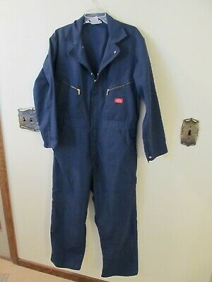 $24.99 • Buy DICKIES Workwear Cotton Work Coveralls Jumpsuit Mens Size XL 44 Short Blue