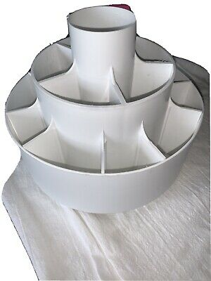 AU47.56 • Buy Pampered Chef Turn-About Carousel Utensil Tool Caddy Holder White