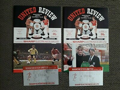 £2 • Buy 2 PROGRAMMES & TICKETS - MANCHESTER UNITED V LIVERPOOL - 1987