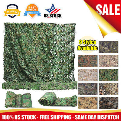 $24.95 • Buy Military Camouflage Netting Hunting Camping Camo Army Net Woodland Desert Leaves