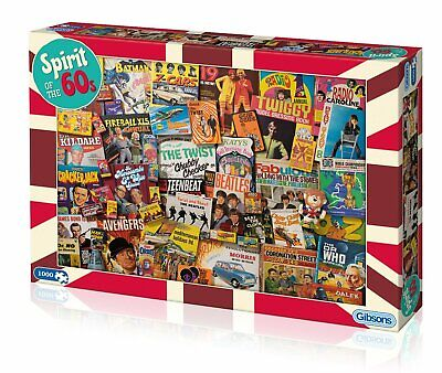 £16.90 • Buy Gibsons Spirit Of The 60s Jigsaw Puzzle, 1000 Piece