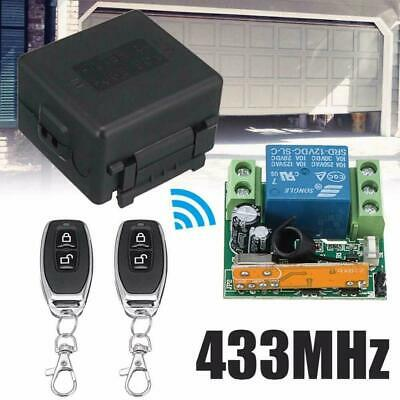 £10.89 • Buy 12V 433MHz Remote Control Transmitter Wireless 1CH Relay Receiver Switch Module