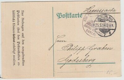£0.75 • Buy Germany-1914 War Ministry Joint Central Evidence Bureau, Berlin Postcard Cover