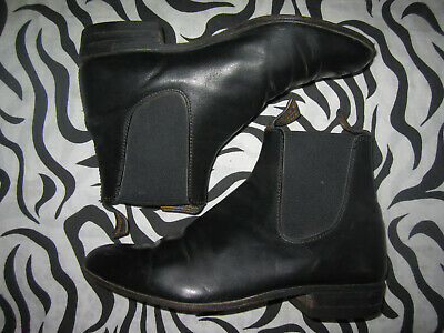 AU115.50 • Buy RM Williams Womens Black Leather Boots Flat Ankle Boots Casual Shoes S.8 Austral