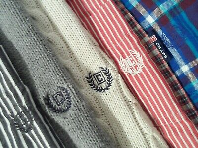 $19.99 • Buy Lot Of 6 Chaps Men's Shirt Size Large Button Down L/S Easy Care Sweater Top