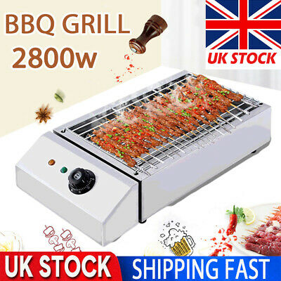 £32.98 • Buy 2800W Commercial Electric Grill Barbecue BBQ Griddle Table Top Kitchen Garden