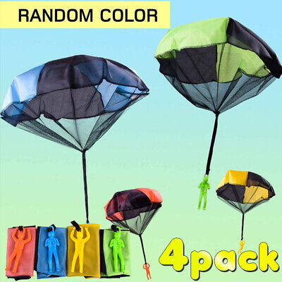£5.99 • Buy 4 Pack Parachute Toy Hand Throwing Parachute Man Wit Durable Outdoor Play Game
