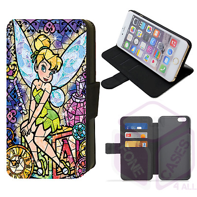 AU16.77 • Buy Disney STAINED GLASS TINKERBELL Fairy Flip Phone Case IPhone 4/5/6/7/8/X/XS/XR