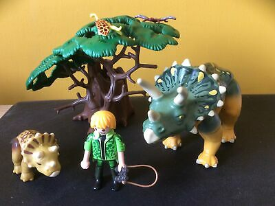 £24.99 • Buy Playmobil Dinosaur Explorer With Triceratops And Baby 5234