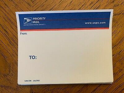 $10 • Buy 27 USPS Priority Mail Labels 2002