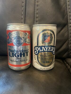 $17.99 • Buy 1 Vintage Budweiser Light First Edition Can Flat Top Can Rare Plus Miller Player