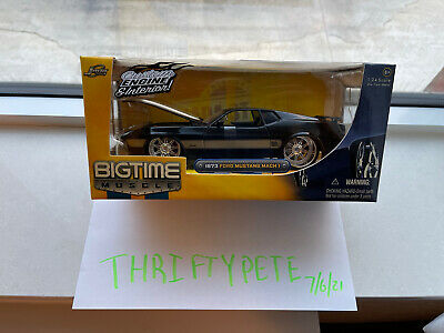 $19.99 • Buy JADA 1/24 BIGTIME MUSCLE BLACK/GOLD 1973 FORD MUSTANG MACH 1 Brand New!