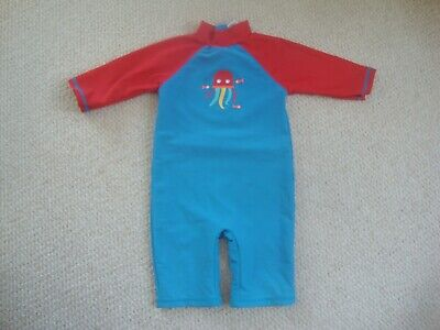 £8 • Buy Frugi Boy's UV Sun Protection Suit Age 18-24 Months - Jellyfish