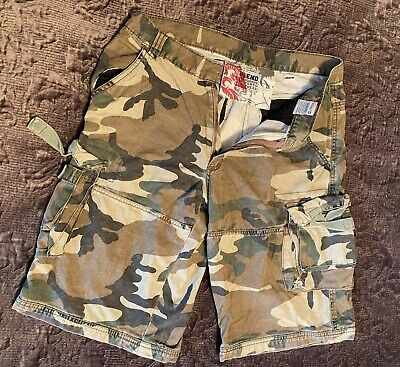 """$19.25 • Buy Blend Camouflage Cotton Cargo Shorts (32"""")"""