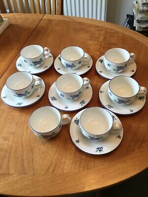 £25 • Buy Royal Doulton Everyday Blueberry Unused 8 Cups And 7 Saucers