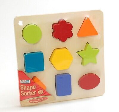 £5.99 • Buy Wooden Shape Sorter Toy Puzzle Learning Multicoloured New