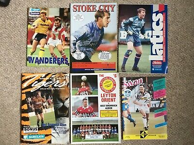£0.90 • Buy 18 X West Brom Away Programmes 1992/3.  Div 2, FA Cup, Play Offs