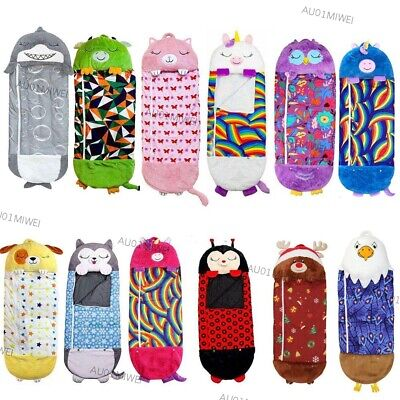 AU39.99 • Buy Large Size Happy Nappers Sleeping Bag Kids Play Pillow Soft Warm Cute Gift AU FS