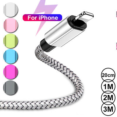 AU8.56 • Buy 1m 2m 3m Charger Lead USB Fast Charing Data Cable For IPhone 5 6s 7 8 11 X XR XS