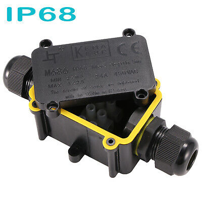 £7.49 • Buy 2 Way Waterproof Electrical Junction Box Cable Connector Wire IP68 Outdoor UK