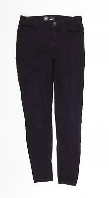 £8 • Buy New Look Womens Purple   Straight Jeans Size 8 L28 In
