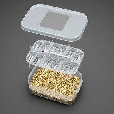 £3.73 • Buy 12 Reptile Egg Incubator Tray+Thermometer Incubation Lizard F5X2 S8I2 Snake C9N5