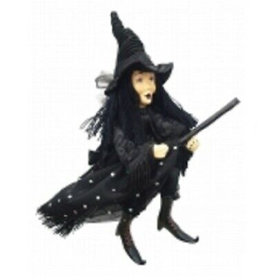 £22.95 • Buy Witches Of Pendle *zilla Goth  Black 24 Cm Flying Witch  Info Book Occult