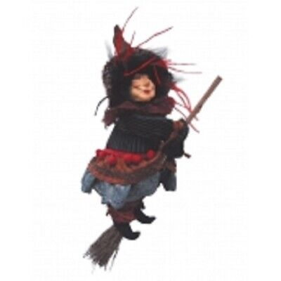 £23.50 • Buy Witches Of Pendle *ann Redfearn  Burgundy Flying Witch 24cm Info Book Pagan