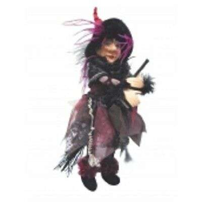 £23.95 • Buy Witches Of Pendle *sabrina  Burgundy Flying Witch 30 Cms Info Book Pagan/ Occult